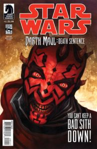 http://www.amazon.com/Star-Wars-Darth-Death-Sentence/dp/B008NGVFV6/ref=sr_1_7?s=books&ie=UTF8&qid=1343365482&sr=1-7&keywords=darth+maul+comic